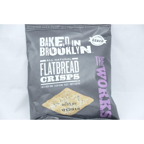 Baked In Brooklyn Flat Bread Crisps The Works 1oz