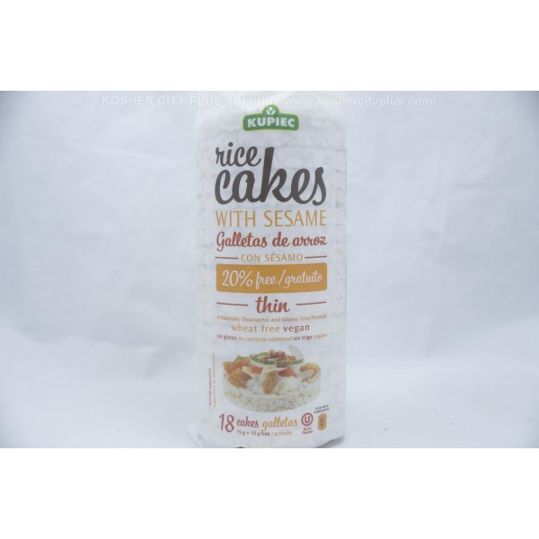 Thin Rice Cakes With Sesame Gluten Free Wheat 18