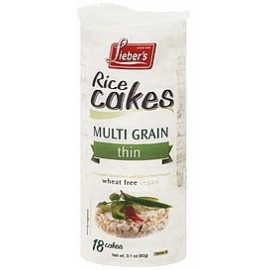 Lieber's Rice Cake Multigrain Sea Salt 18 Cakes 90g