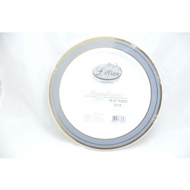 "LILIAN MAGNIFICENCE 10.25"" PLATES 10/PK"