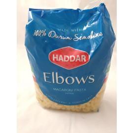 Haddar Pasta Elbows 100% Durum Semolina 454g