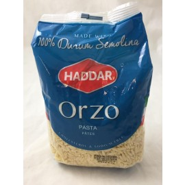 Haddar Pasta Orzo 100% Durum Semolina 454g