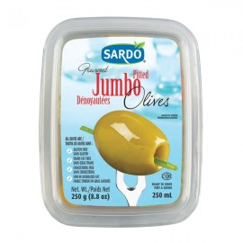 Sardo Gourmet Pitted Jumbo Olives 250ml