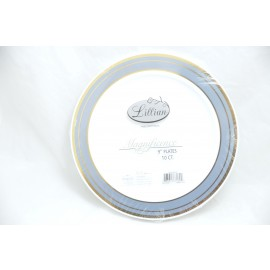 "LILIAN MAGNIFICENCE 9"" PLATES 10/PK"
