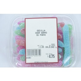 Gedilla Sour Worms Parve Kosher City Package