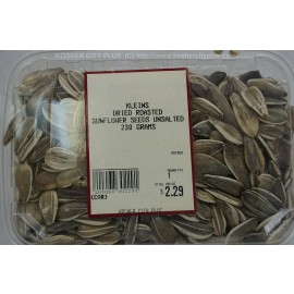 Kleins Dried Roasted Sunflower Seeds Unsalted Kosher City Package 230g