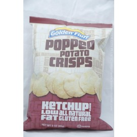 Golden Fluff Ketchup Flavor Popped Potato Crisps Low Fat Gluten Free 85g