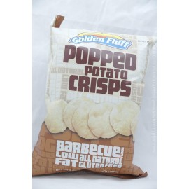 Golden Fluff Barbecue Flavor Popped Potato Crisps Low Fat Gluten Free 85g