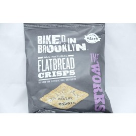 Baked in Brooklyn Flat Bread Crisps The Works 1oz