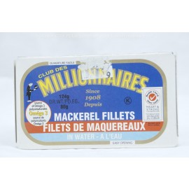 Millionaires Mackerel Fillets in Water 124g