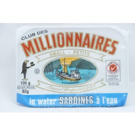 Millionaires Sardines in Water Slightly Smoked 106g