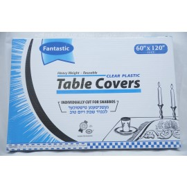 Fantastic Table Covers; Clear Palstic; 60x120;12ct; Heavy Weight; Reusable
