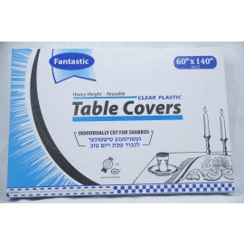 Fantastic Table Covers; Clear Palstic; 60x140;10ct; Heavy Weight; Reusable