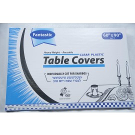 Fantastic Table Covers; Clear Palstic; 60x90;16ct; Heavy Weight; Reusable