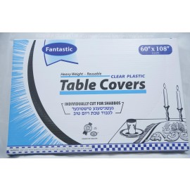 Fantastic Table Covers; Clear Palstic; 60x108;13ct; Heavy Weight; Reusable