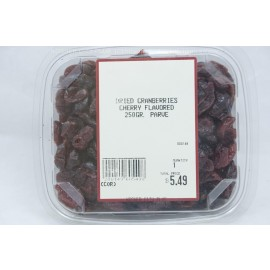 Dried Cranberries Cherry Flavored Parve Kosher City Plus Package 250g