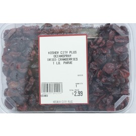 Oceanspray Dried Cranberries Kosher City Plus Package 1lb