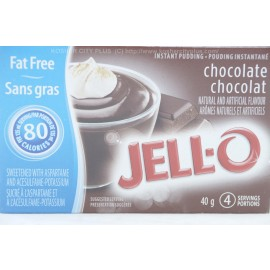 Jell-o Fat Free Chocolate Instant Pudding Sweetened with Aspartame  40g