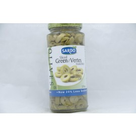 Sardo Sliced Green Olives 375ml