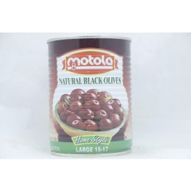 Motola Natural Black Olives Home Sty;e Large 15-17 560g