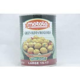 Motola Green Olives Manzanilo  Home Style 15*17 560g