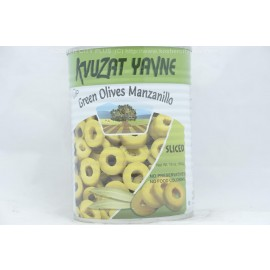 Kvuzat Yavne Green Olives Manzanillo Sliced 540g