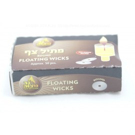 Ner Mitzvah 50 Round Floating Wicks - Wick Remover Included