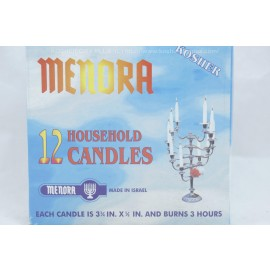 Menora 12 Household Candles Burns 3 Hours