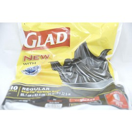 Glad 10 Bags Regular Easy Tie Garbage Bags