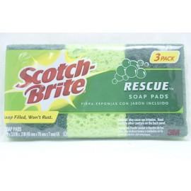 Scotch Brite Rescue Soap Pads 3 Pads