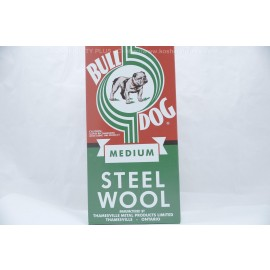 BullDog Medium Steel Wool 6 Rolls