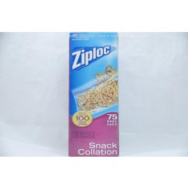 Ziploc Snack Collation 75 Bags 16.5cmX8.2cm