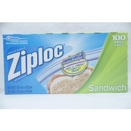 Ziploc Sandwich 100 Bags 16.5cmX14.9cm