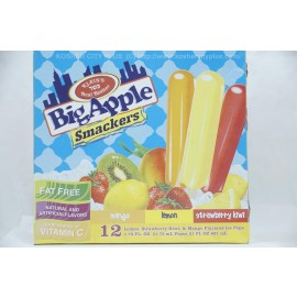 Klein's Big Apple Smackers Mango Lemon Strawberry Kiwi 12 Flavored Ice Pops 621ml