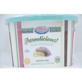 Parvelicious  Sugar Free Neapolitan Frozen Dessert Parve  Lactose-Dairy Free Nut Free Facility