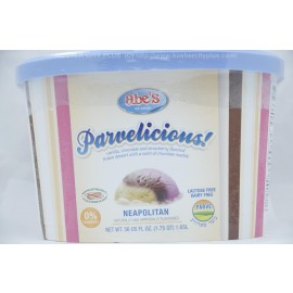 Abe's Parvelicious  Neapolitan Frozen Dessert Parve  Lactose-Dairy Free Nut Free Facility 1.65L