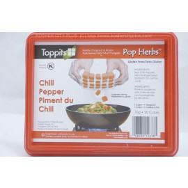 Toppits Chilli Pepper Freshly Chopped and Frozen Pop Herbs 20 Cubes Gluten Free 70g