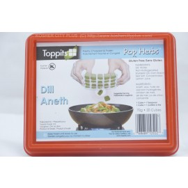 Toppits Dill Freshly Chopped and Frozen Pop Herbs 20 Cubes Gluten Free 70g