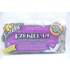 Cinnamon Raisin Ezekiel 4 9 !00% Sprouted Whole Grain Loaf Organic Frozen Bread