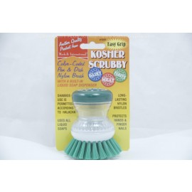 Mark-It International Pareve Kosher Scrubby with Built-in Liquid Soap Dispenser