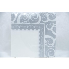 Lunch Napkins 40-2Ply Silver Medley