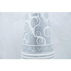9 oz 24 Coated Cups Silver Medley
