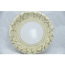 "7"" 36 Round Plates Gold Medley"