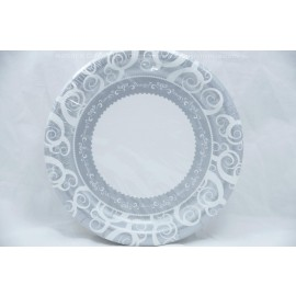 """7"""" 36 Round Plates Silver Medley"""