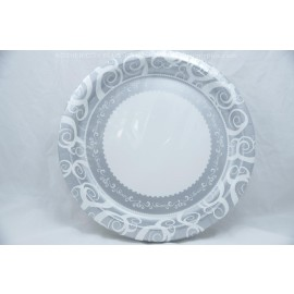 "10.25"" 18 Round Plates Silver Medley"