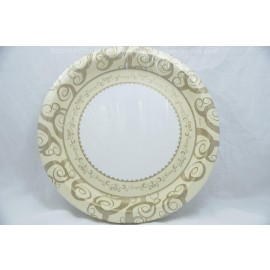 "10.25"" 18 Round Plates Gold Medley"