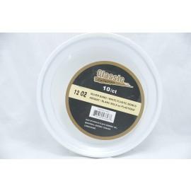 Classic 12OZ Bowl Silver/White Plastic Plate 10ct