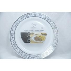 Decor 10.25 Plates 10 cts Silver