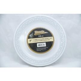 """Classic 7"""" Plates 10ct Silver Filigree"""