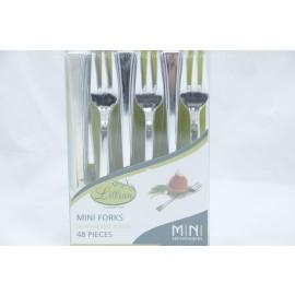 Lillian Heavyweight Plastic Mini Forks 48 pieces